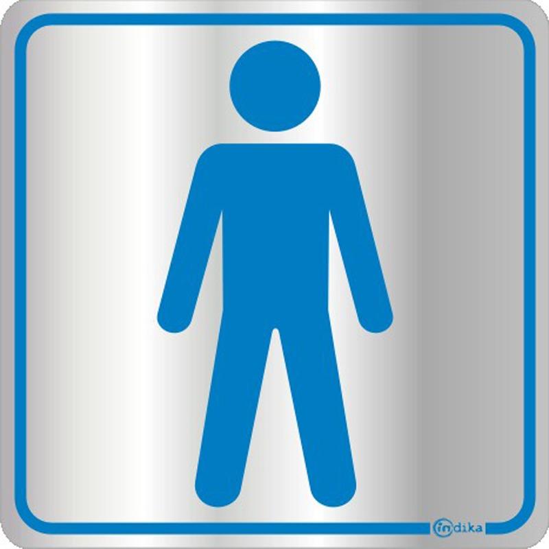 Kit Com 4 Placas Banheiro Em Alumínio Adesivas  R$ 70,00 em Mercado Livre -> Homens Banheiro Feminino