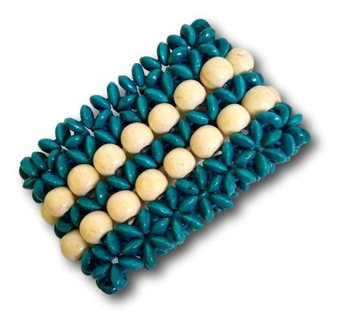 kit com 4 pulseiras de madeira ref: 9615