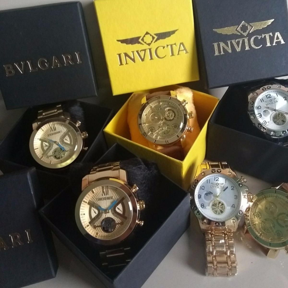 58c04af78a3 kit com 4 relógios masculino luxo + caixa atacado promoção. Carregando zoom.