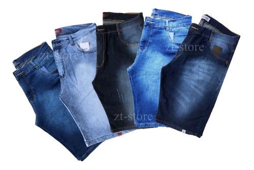 kit com 4 shorts jeans bermuda masculina colorida escolha