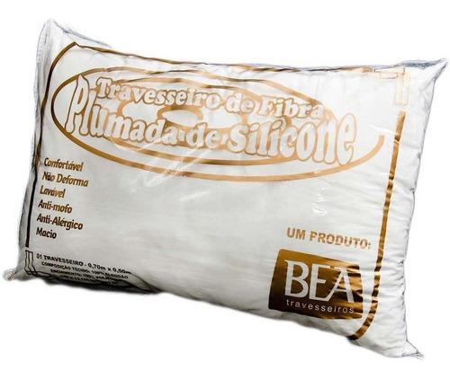 kit com 4 travesseiros de silicone 700g forro de percal