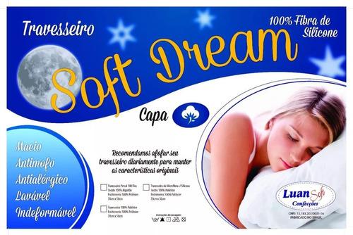 kit com 4 travesseiros manta siliconada promoção revenda