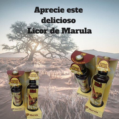 kit com 4 unidades licor marula bid - 880ml