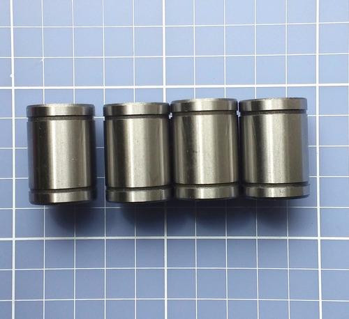 kit com 4 unidades - rolamento linear lm12uu eixo 12mm