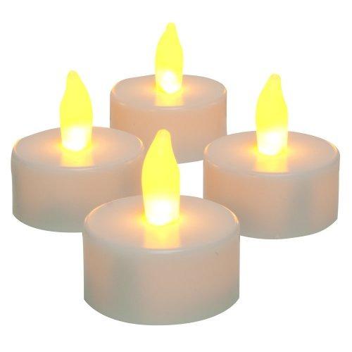 kit com 4 velas de led decorativas - baterias inclusas