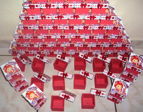 kit com 40 lembrancinhas da moranguinha baby