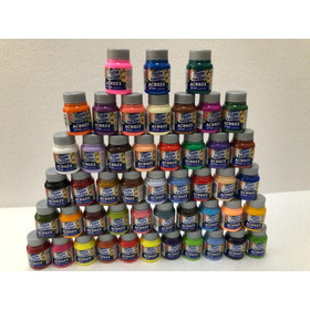 Kit Com 48 Tintas Tecido 37ml Cores Fosca Acrilex