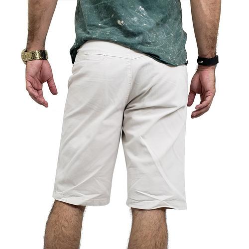 kit com 5 bermudas masculinas sarja brim coloridas baratas
