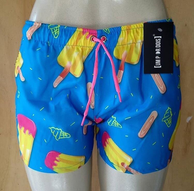 ccf7ae5c3fe3 Kit Com 5 Bermudas Shorts Praia Femininos Atacado Revenda - R$ 199 ...