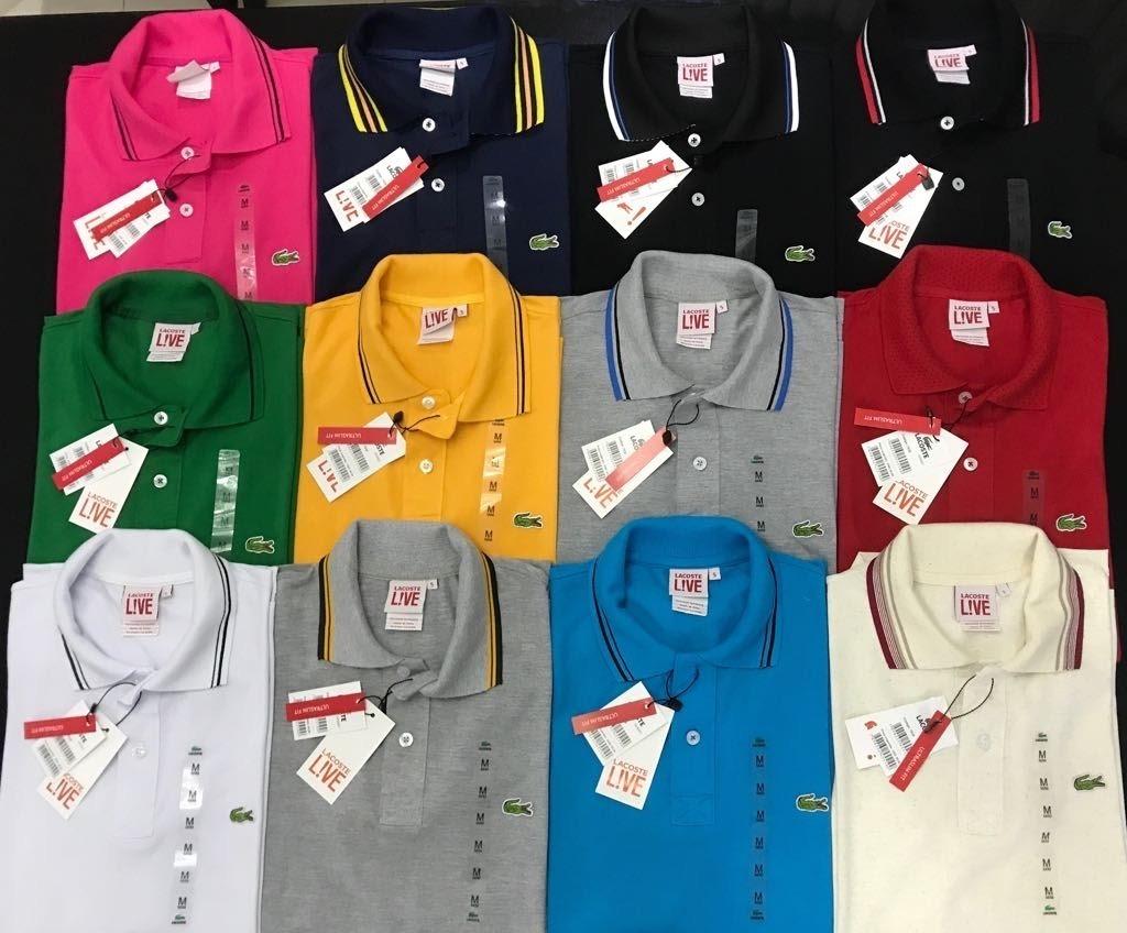 8933288256754 Kit Com 5 Camisetas Polo  lacoste Importada Peruana Atacado - R  249 ...