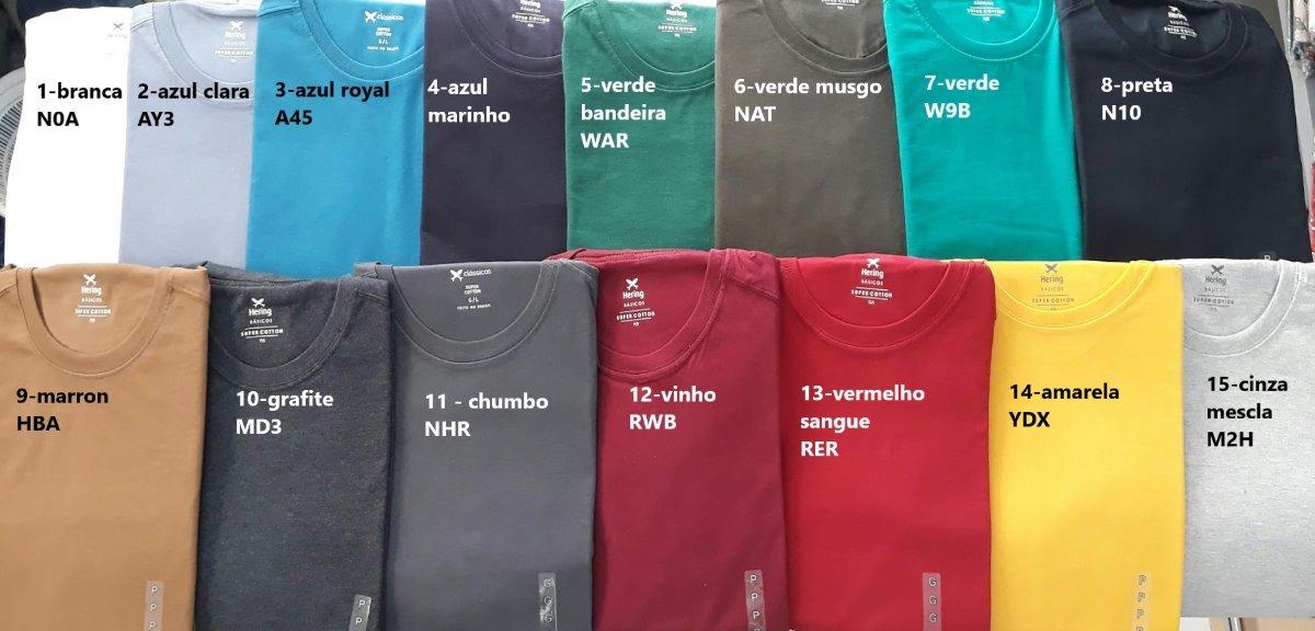 Kit Com 5 Camisetas Super Cotton - Hering - R  225 ccaf645fcf446