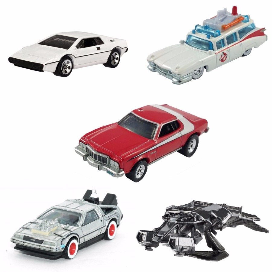 Kit Com 5 Carros Miniaturas De Filmes De Metal Hot