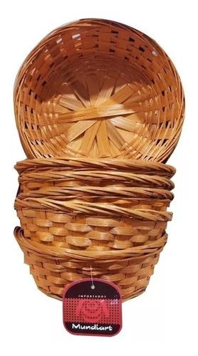 kit com 5 cestas para salgadinho redondas sintética
