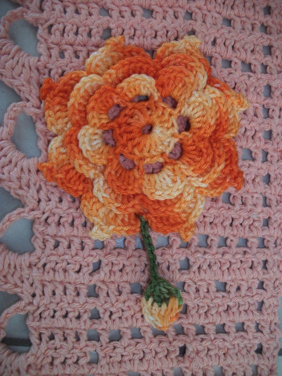 Kit Com 5 Flores De Croch Para Tapete Banheiro Sala Cozinha R