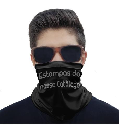 kit com 5 máscaras bandana - informe as estampas no pedido