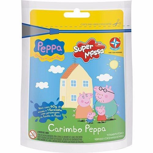 kit com 5 massinha carimbo sortido peppa pig - estrela