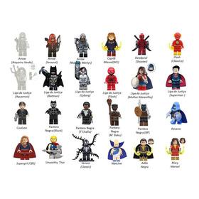 Kit Com 5 Minis Marvel Dc Batman Movie Blocos Padrão Lego