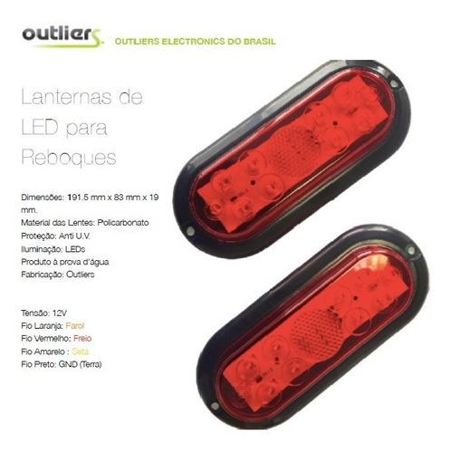 kit com 5 pares de lanternas de led a prova d´água