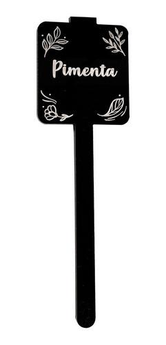 kit com 5 placas identificador horta acrilico