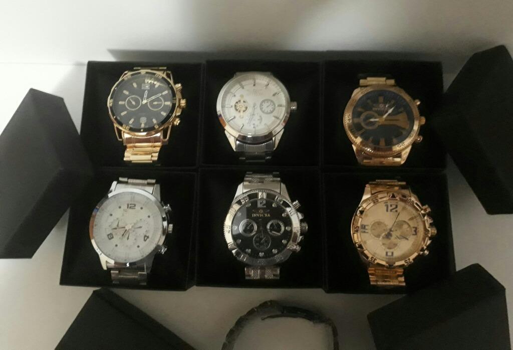 5a1e69475ab Kit Com 5 Relógios Masculino Dourados Lindos Bonitos P  Entr