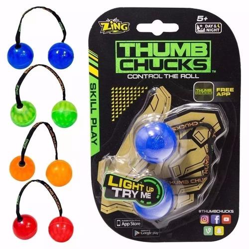 kit com 5 thumb chucks de led febre do momento atacado.