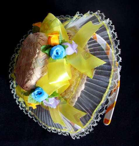 kit com 5 tiaras para festa junina - enfeite junino cabelo