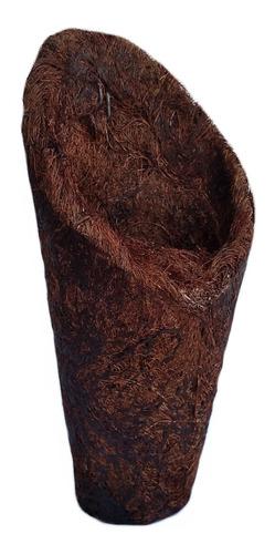 kit com 5 vasos fibra de coco cone concha 24cm ref.4258