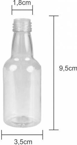 kit com 50 mini garrafinhas pvc 50 ml com tampa aluminio