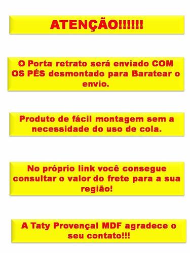 kit com 50 porta retrato da moranguinho taty provençal mdf