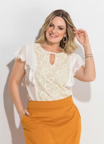 kit com 6 blusas femininas plus size