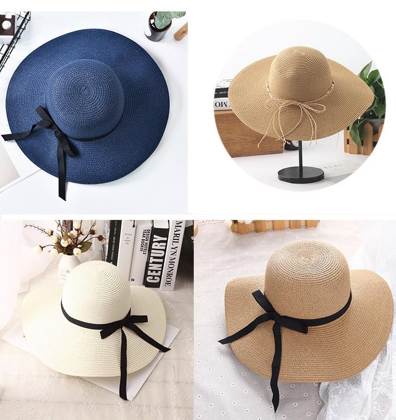 ... chapéus de praia grande feminino palha viseira. Carregando zoom. b6c8c86abb6