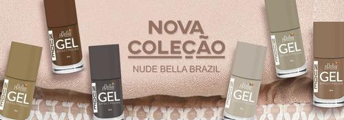 kit com 6 esmaltes em gel bella brazil seca sem cabine uv