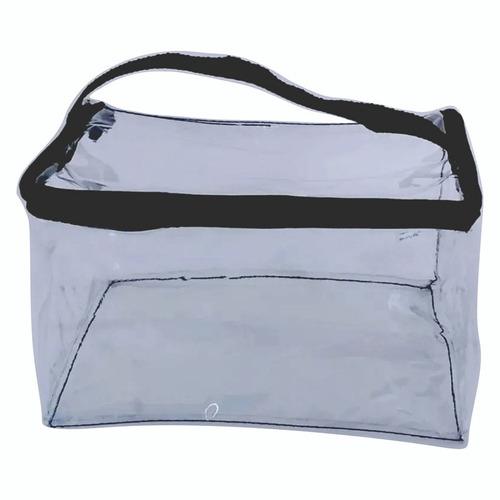 kit com 6 necessaire transparente viagem algodão envio 24hs