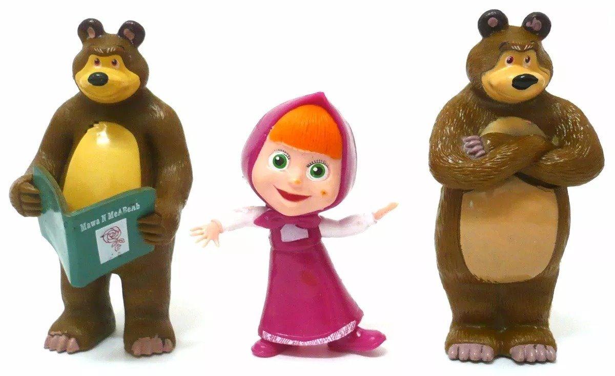 Kit Com 6 Personagens Do Desenho Masha E O Urso R 68 00 Em