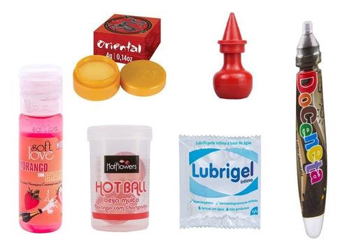 kit com 6 produtos eróticos sex shop
