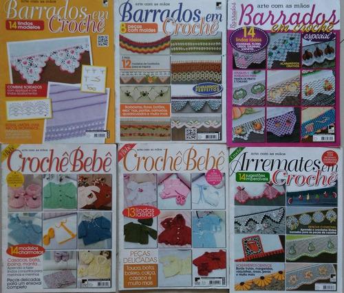 kit com 6 revistas de crochê. faça, venda e lucre!