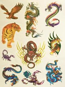 2bfae58f5e856 Tatuagem Temporaria Carpa - Calçados, Roupas e Bolsas no Mercado ...