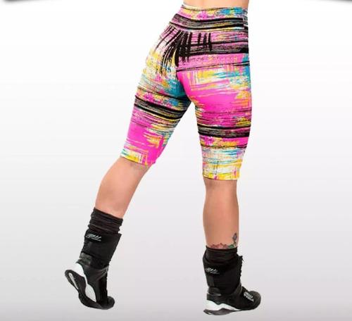 kit com 7 bermudas fitness academia atacado roupa feminina