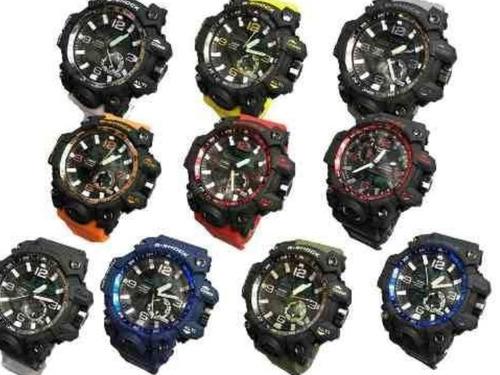 kit com 7 relógios casio g-shock prova d,água