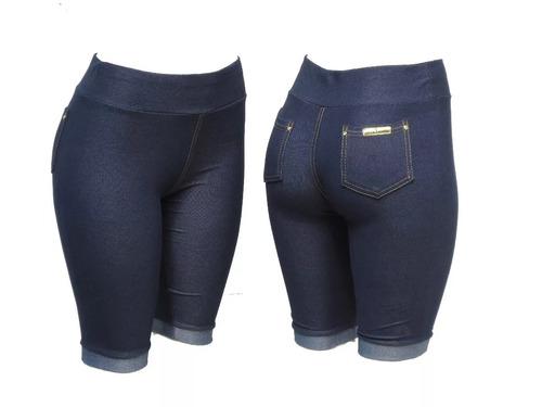 kit com 7 short feminina  com 2 bolso de cotom  p m g xg