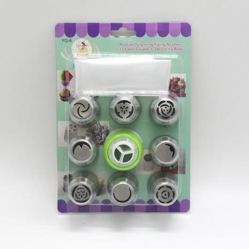 kit com 8 bicos de confeiteiro