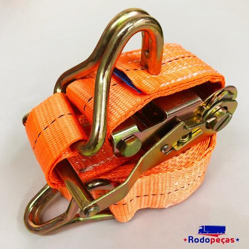 kit com 8 catraca + 8 cinta amarração 1,5 t 9 metros rabicho