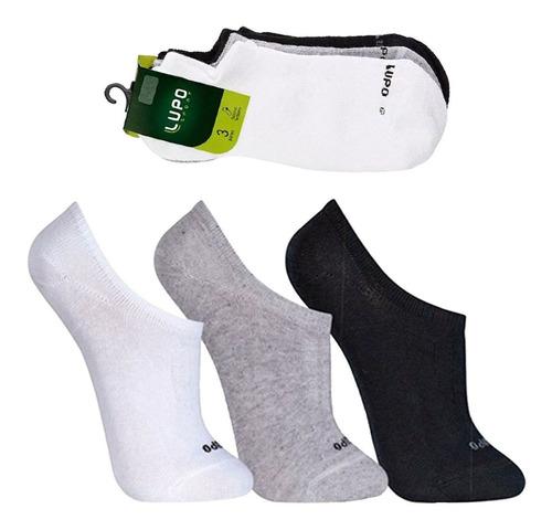 kit com 9 pares de meias soquete masculina lupo soquete lupo