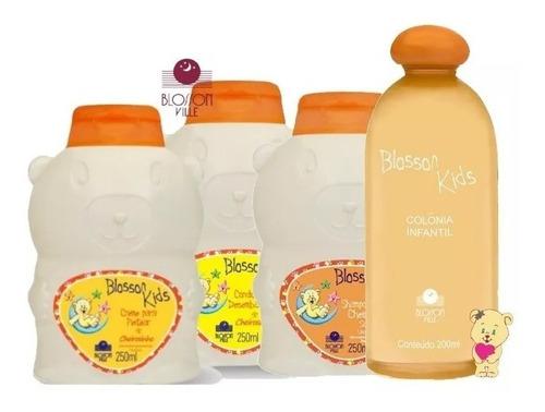 kit  com/ colonia + shampoo, condicionador e creme pentear