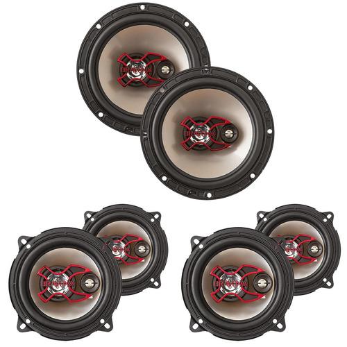 kit com par alto falantes 6 b3x polegadas + 2 pares 5 b3x50x