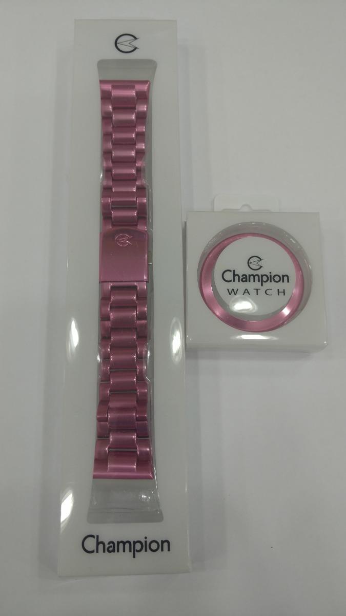 647f44632c5 Kit Com Pulseira E Aro Em Aluminio Rosa Original Champion - R  140 ...