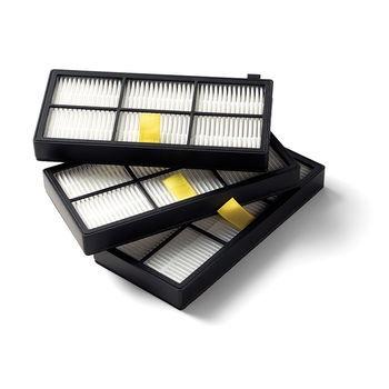 kit com três unidades filtro hepa roomba série 800 e 900
