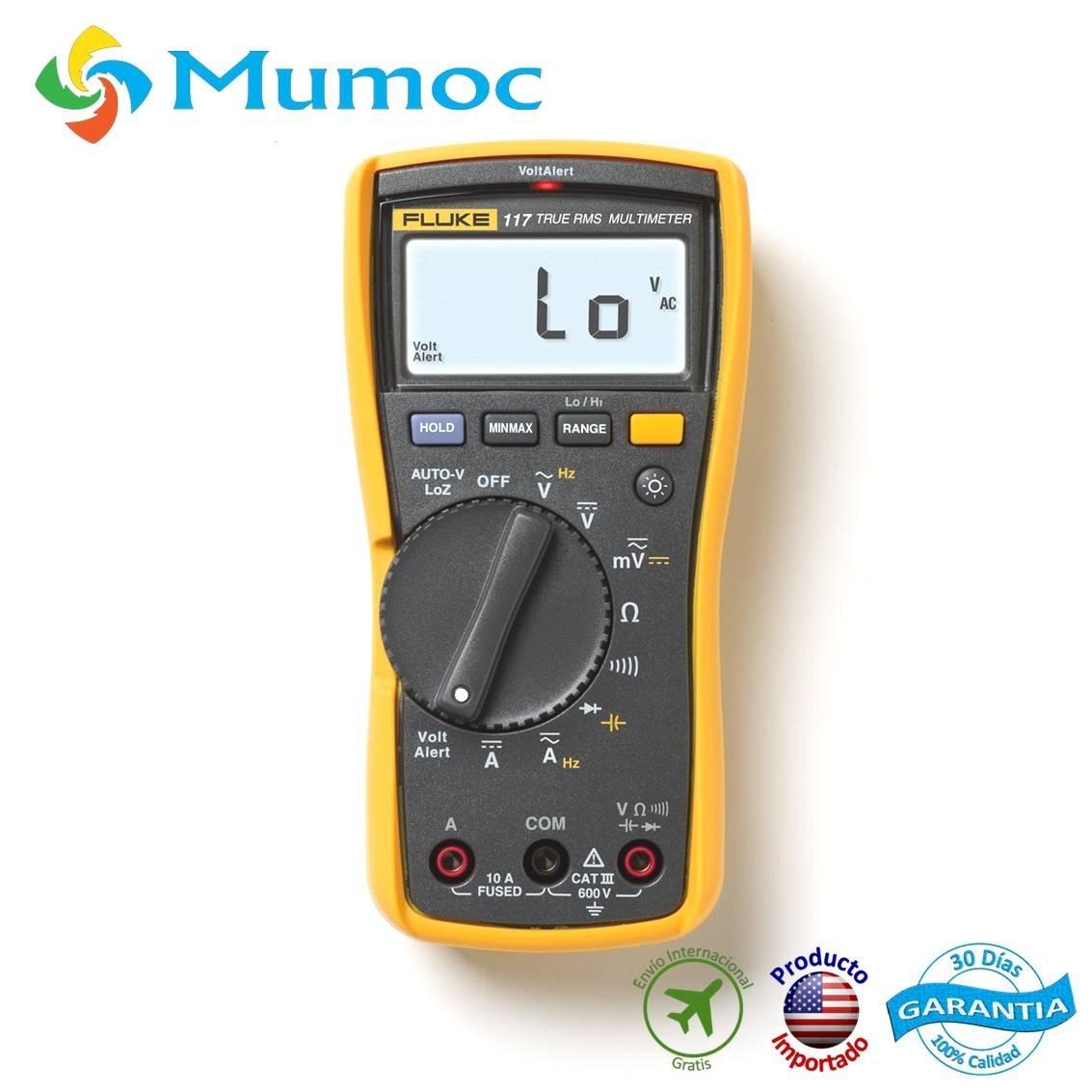 Kit combinado de mult/ímetro para electricistas Fluke 117//323