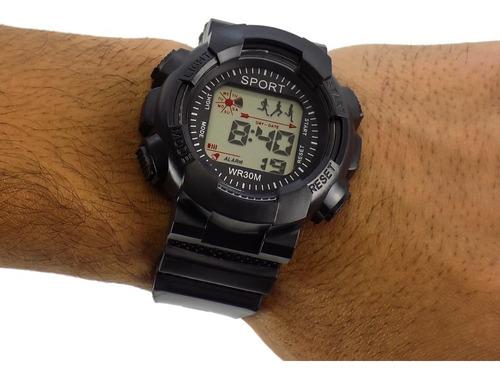kit combo 10 relógios orizom sport masculino original + cai