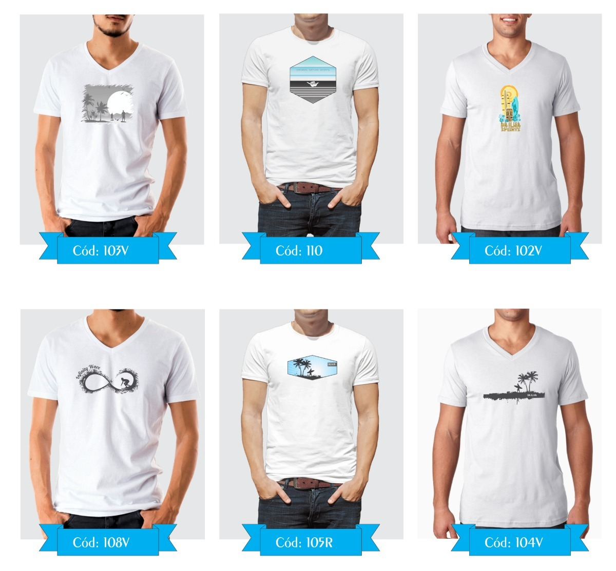 02e782cc87 kit combo 3 camiseta masculina surf camisa blusa original. Carregando zoom.
